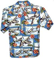 WW II Airplanes Hawaiian Shirt