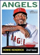 2013 Topps Heritage Howie Kendrick Baseball Card