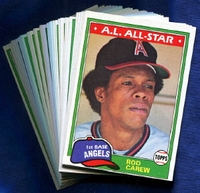 1981 Topps California Angels Baseball Card Team Set
