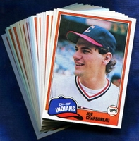 1981 Topps Cleveland Indians Baseball Card Team Set