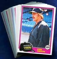 1981 Topps Detroit Tigers Baseball Card Team Set