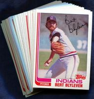 1982 Topps Cleveland Indians Baseball Card Team Set