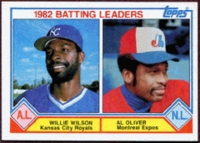 "1983 Topps Batting Leaders ""1982"" Willie Wilson & Al Oliver Baseball Card"