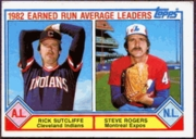 1983 Topps ERA Leaders of 1982 Rick Sutcliffe & Steve Rogers Baseball Card