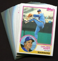 1983 Topps Seattle Mariners Baseball Card Team Set
