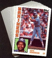 1984 Topps Seattle Mariners Baseball Card Team Set