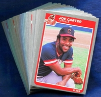 1985 Fleer Cleveland Indians Baseball Card Team Set