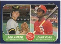 1986 Fleer Bob Kipper & Curt Ford Baseball Card