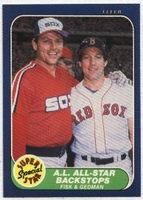 1986 Fleer Carlton Fisk & Rich Gedman Super Star Baseball Card