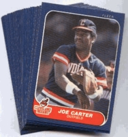 1986 Fleer Cleveland Indians Baseball Card Team Set