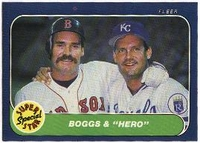 1986 Fleer Wade Boggs & George Brett Super Star Baseball Card