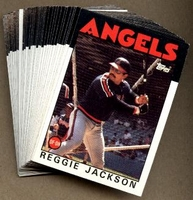 1986 Topps Anaheim (California) Angels Baseball Card Team Set