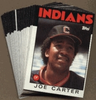 1986 Topps Cleveland Indians Baseball Card Team Set