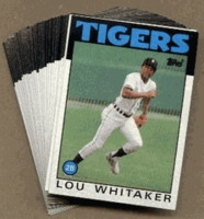 1986 Topps Detroit Tigers Baseball Card Team Set