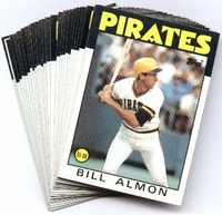 1986 Topps Pittsburgh Pirates Baseball Card Team Set