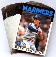 1986 Topps Seattle Mariners Baseball Card Team Set