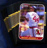 1987 Donruss California Angels Baseball Card Team Set