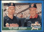 1987 Fleer 300 Game Winners Don Sutton and Phil Niekro Baseball Card