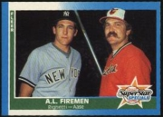 1987 Fleer American League Firemen Dave Righetti & Don Aase Baseball Card