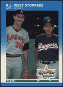 1987 Fleer American League West Stoppers Mike Witt & Charlie Hough Baseball Card