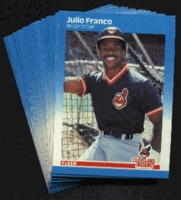 1987 Fleer Cleveland Indians Baseball Cards Team Set