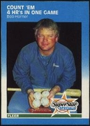 1987 Fleer Count'Em 4 home Runs In One Game Bob Horner Baseball Card