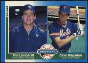 1987 Fleer Dave Magadan & Phil Lombardi Baseball Card