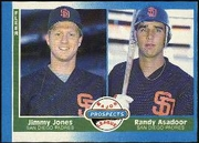 1987 Fleer Jimmy Jones & Randy Asadoor Baseball Card