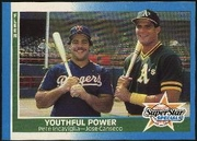 1987 Fleer Jose Canseco and Pete Incaviglia Youthful Power Baseball Card
