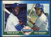 1987 Fleer Jose Gonzalez & Ralph Bryant Baseball Card