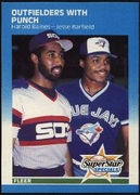1987 Fleer Outfielders with Punch Harold Baines & Jesse Barfield Baseball Card