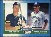 1987 Fleer Rob Nelson & Steve Fireovid Baseball Card