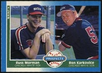 1987 Fleer Ron Karkovice with Russ Morman Rookie Baseball Card