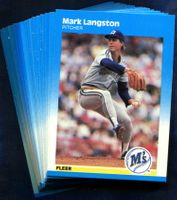 1987 Fleer Seattle Mariners Baseball Cards Team Set