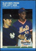 1987 Fleer Sluggers From The Left Side Don Mattingly & Darryl Strawberry Baseball Card