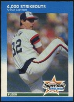 1987 Fleer Steve Carlton 4000 Strikeouts Baseball Card