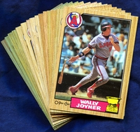 1987 O-Pee-Chee California Angels Baseball Card Team Set