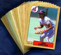 1987 O-Pee-Chee Cleveland Indians Baseball Card Team Set