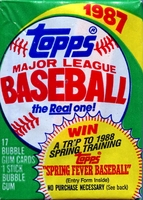 1987 Topps Baseball Cards Wax Pack