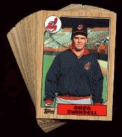 1987 Topps Cleveland Indians Baseball Card Team Set