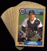 1987 Topps Detroit Tigers Baseball Card Team Set