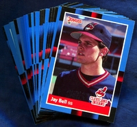 1988 Donruss Cleveland Indians Baseball Cards Team Set