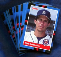 1988 Donruss Detroit Tigers Baseball Cards Team Set