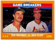 1988 Score #650 Don Mattingly & Jack Clark Baseball Card