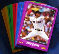 1988 Score Boston Red Sox Baseball Cards Team Set