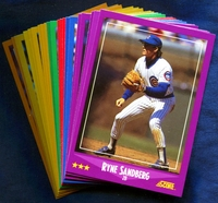1988 Score Chicago Cubs Baseball Cards Team Set
