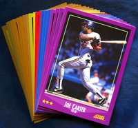 1988 Score Cleveland Indians Baseball Cards Team Set