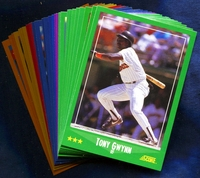 1988 Score San Diego Padres Baseball Cards Team Set