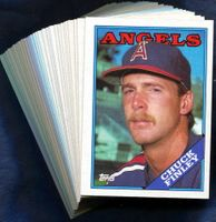 1988 Topps Anaheim (California) Angels Baseball Card Team Set