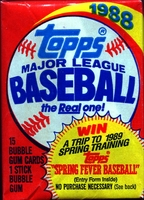 1988 Topps Baseball Cards Pack